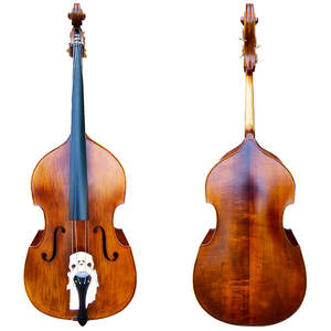 Wholesale Handmade Advanced solid wood natural flamed Maple Double Bass