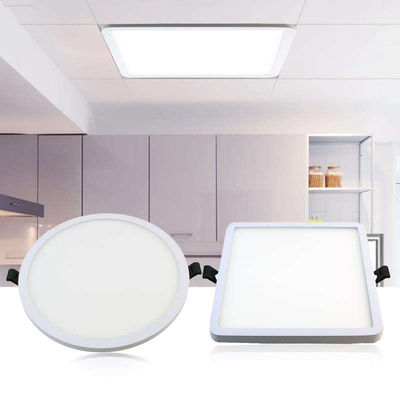LED 주거 조명 Manufactory. we OEM 원 Shape Recessed LED Ceiling 등 6 와트 White Super-얇은 Led Panel 등 SMD