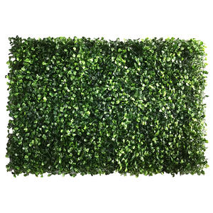 Wholesale decorative green artificial plant wall boxwood hedge for green outdoor wall