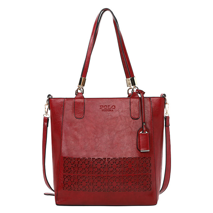 Vicuna Polo New Model Two Use Fashion Large Shoulder Bag European and American Style Vintage Oil Wax Leather Handbag