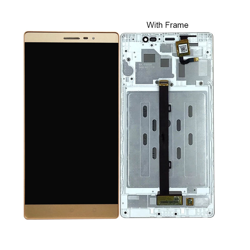 High quality 6.4'' Lcd Touch Screen+Frame For Lenovo PB2-650 Lcd Display Digitizer Assembly For Lenovo Phab 2 PB2-650 PB2-650N