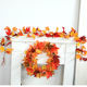 Autumn Red Maple Leaf Maple Leaf Halloween decoration cross-border sourcing autumn wedding decoration rattan wall hanging