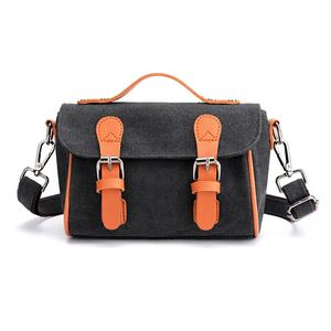 Chinese Wholesalers New Messenger Bags Large Capacity Black Canvas Crossbody Bags Zipper Women Canvas Girls Bags Handbags