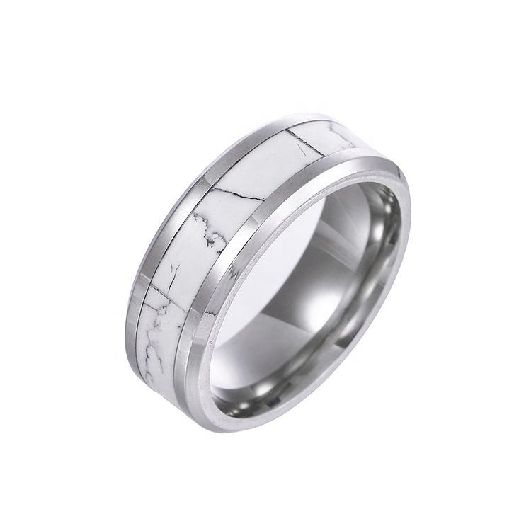 Fashion tungsten carbide jewellery custom turquoise inlay rings men