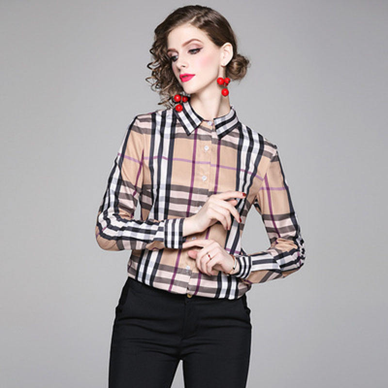 DD1741045# Europe and the United States fashion wild waist was thin positioning printing shirt