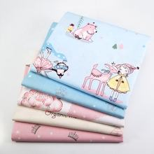 New pink series printed cotton fabric twill for children's home textiles and DIY fabrics