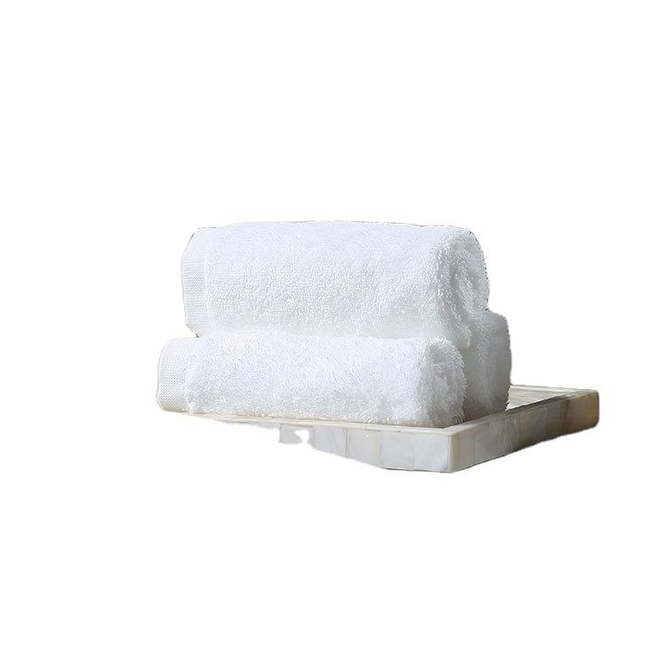 Wholesale Customized Hotel Face Towel Comfortable and Soft Pure Cotton Face Towels Manufacture White 32s Small Hotel Face Towel