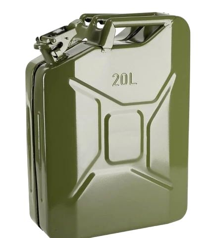 Steel Military Gasoline Fuel Tank Petrol Jerrycan 20 liter 5 Gallon Gal Oil Jerry Can