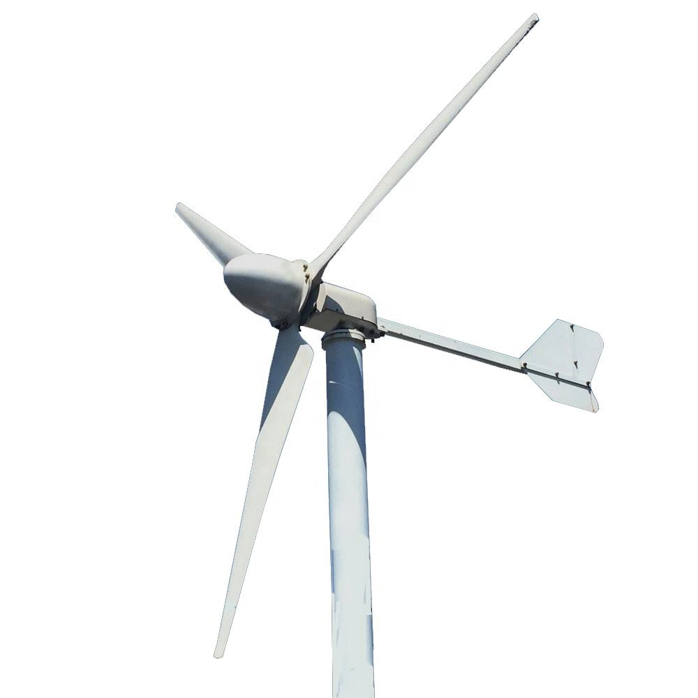 3kw 48v Horizontal axis Wind Turbine Generator with 3kw mppt hybrid wind solar controller
