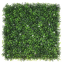 Wholesale Artificial Boxwood Panel Vertical Garden Green Grass Plants Artificial Boxwood Wall Plant Hedge Panels