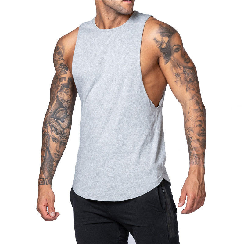 Men Sleeveless Muscle Fitness Tank Top Bodybuilding Workout Gym Sport Stringer Shirts