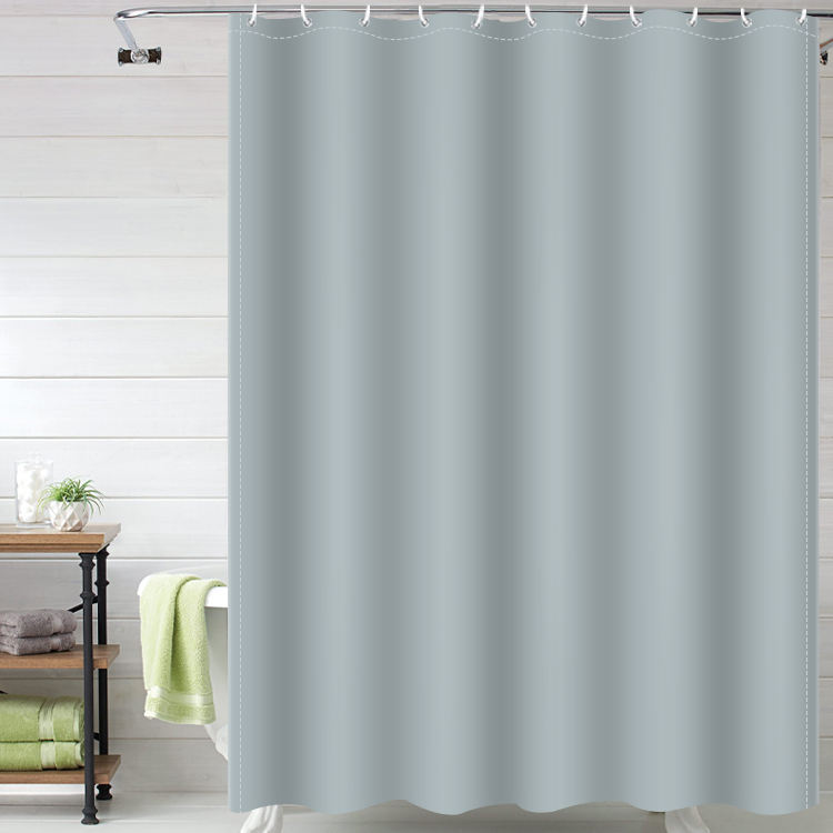 High Quality PEVA Color Shower Curtain Bathroom Gray Shower Curtains