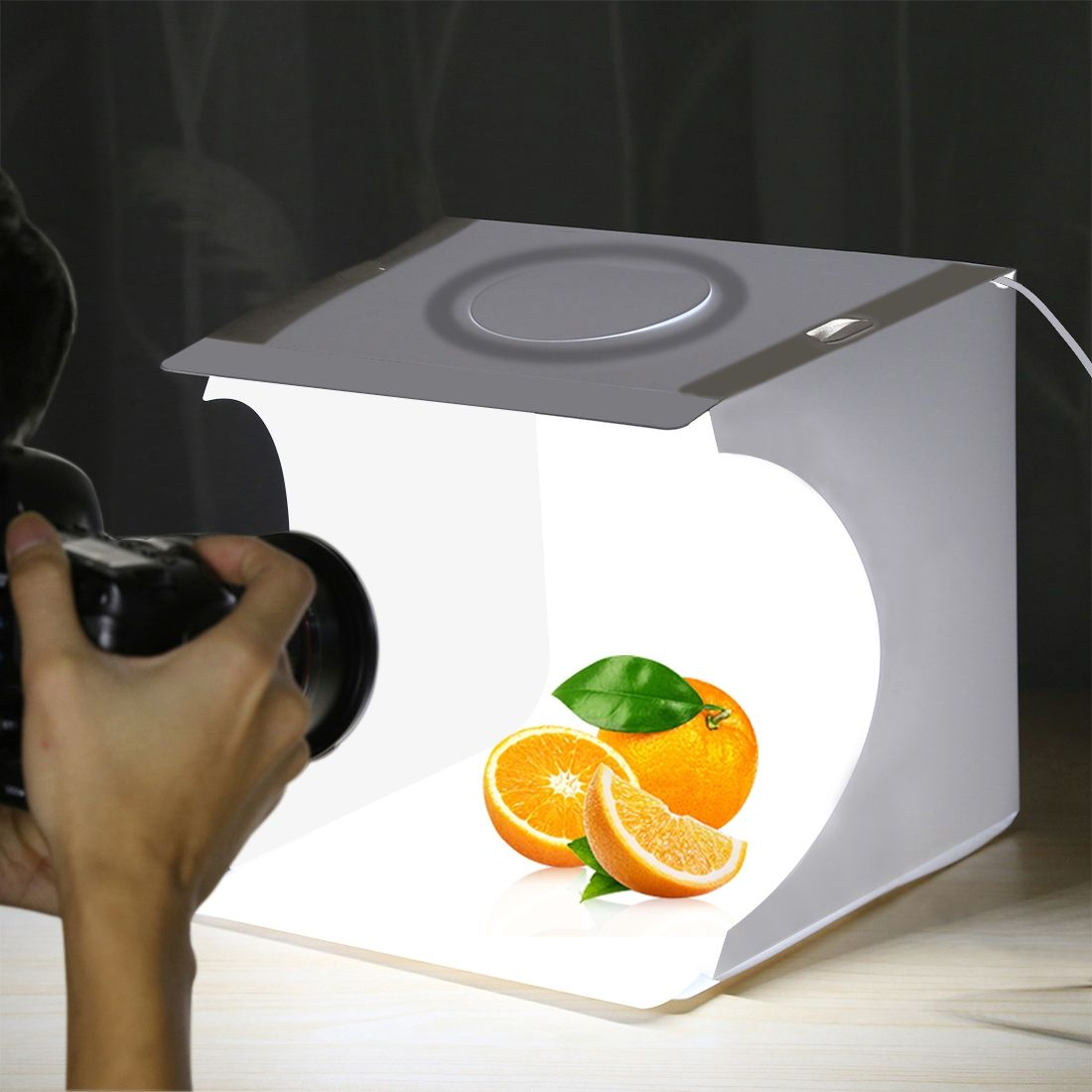 PULUZ Hot Sale Mini Portable 23cm Folding LED lightbox Table Top Softbox Photography photo Studio box