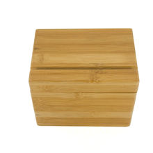 Factory direct bamboo recipe box with Divider Tabs bamboo cards holder
