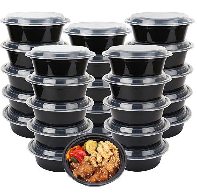 Disposable Microwave Food Container Round Plastic Bowl