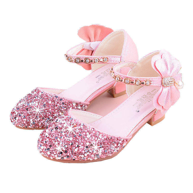 Лидер продаж; обувь принцессы из искусственной кожи с блестками для девочек; детская Праздничная обувь