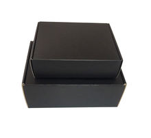Black Kraft Corrugated Paper Packaging Mailer Postal Small Shipping Box