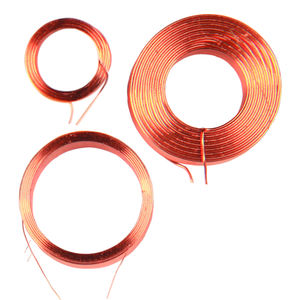 Induction inductor air core copper wire coil