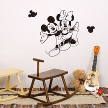 YIYAO Princess Mickey Mouse Kids Wall Decals Wall Stickers Peel and Stick Removable Wall