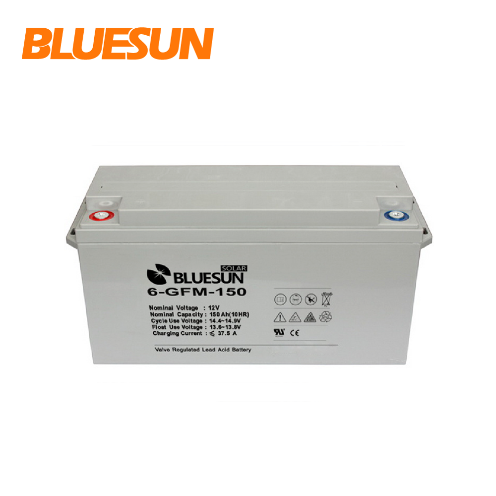 Deep cycle 24v GEL solar system battery 12v 150ah 200ah 250ah solar battery for hybrid system