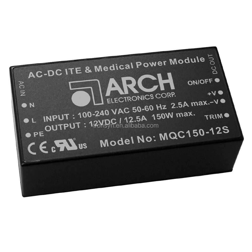 Arch AC DC ITE & Medische X Ray Voeding Module MQC150-12S 150W 12V Converter