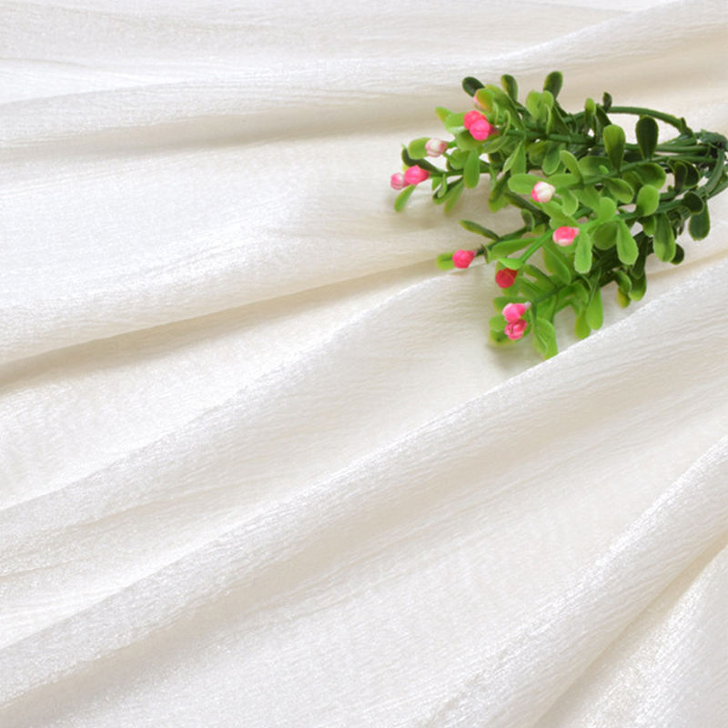 bridal solid chiffon burn out printing polyester raw silk fabric roll organza of silk embroidery