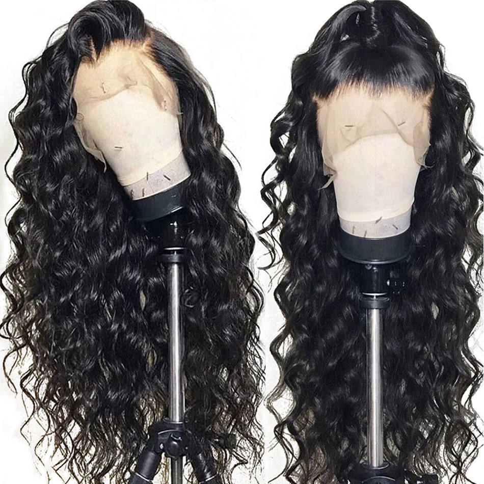 Fast Shipping HD Invisible Lace Frontal Wig Loose Deep Curls Human Hair Pre Plucked Glueless Wig Lace Front 13x4 With Baby Hair