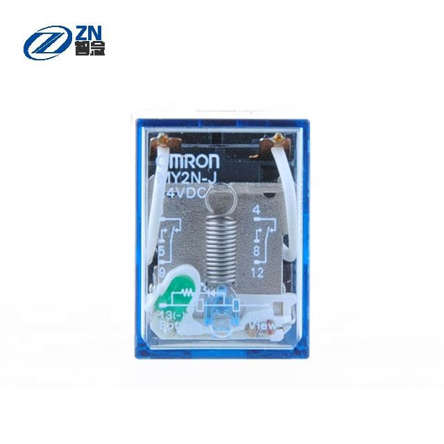 wholesale price OMRON Power Relay MY2NJ-DC24V 10A DPDT ( 28mm 21.5mm 36mm) Socket MY2NJ-DC24V