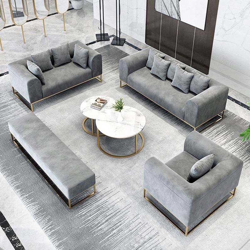2020 chinese recliner sectional designs Grey Velvet Canape Home Furniture Couch Seater Sofa Modern