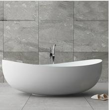 custom size piscinas round artificial stone stand alone soaker tub, cast stone resin composite solid surface bathtub