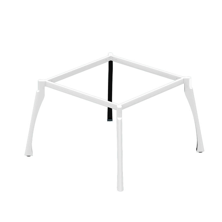 Luxury Staff Office Steel Desk Frame Metal Table Legs For 4 Persons Workstation