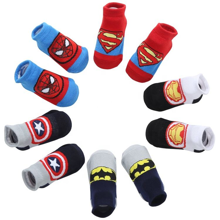 100% cotton cartoon cute anti slip cotton infant baby socks