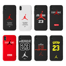 Custom Jordan Phone Case Frosted Rubber Silicon Phone Cover for iphone 11 pro max Custom Design Logo Printing