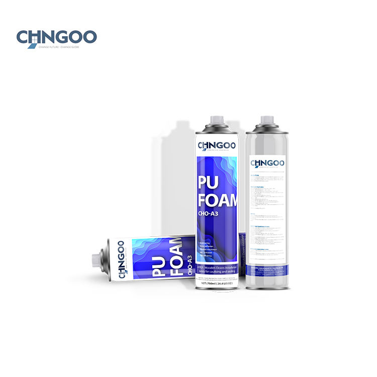 High density large expansion 750ml aluminum aerosol canned pu foam Straw type for gap filling