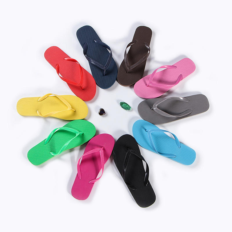 Anti-slip eva flip flop foldable rubber men sandals red cold slippers summer adult wholesale