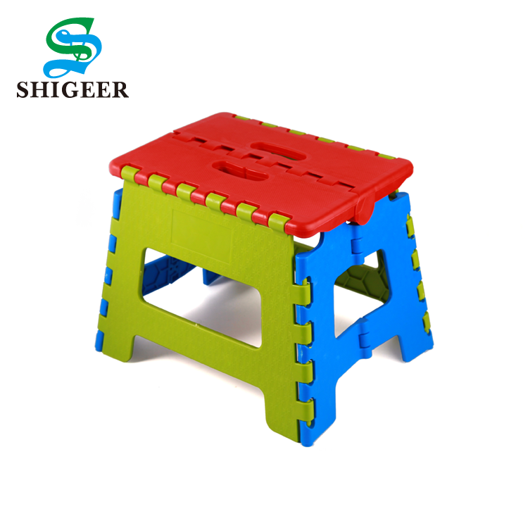 New Design Customized Portable Home Outdoor Children Plastic Folding Travel Stool