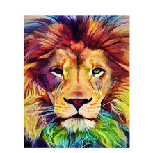 CHENISTORY DZ992259  DIY digital  Painting By Numbers Colourful lion wall pictures  abstract painting canvas
