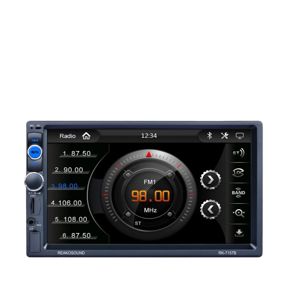 2 DIN Bluetooth In Dash HD Touch Screen Car Video Stereo Player AM/FM/RDS Radio Support Mirror Link/Aux In/Rear View Camera