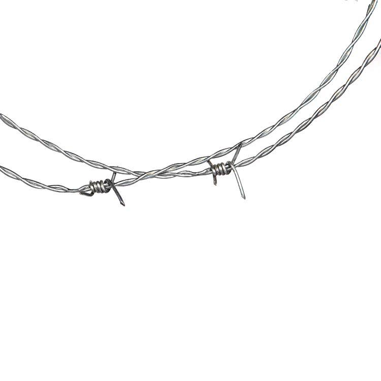 Hot dip galvanized or PVC coated barbed wire with customizable specifications