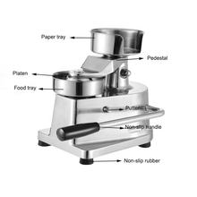 100A 130A 150A Manual Hamburger Patty Forming Burger Making Machine Hamburger Patty Press  Food processing machine
