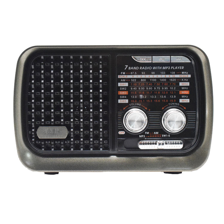 Retro Portable solar FM/AM/SW multi band radio receiver with USB/TF/bluetooth MP3 player with led light