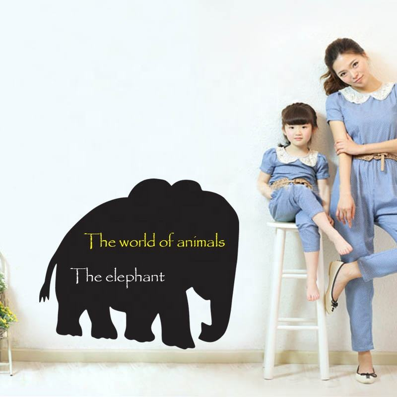 Factory Sale Animal Elephant Shape Vinyl Decal Logo Sticker And Promotional Gifts Use Chalkboard labels
