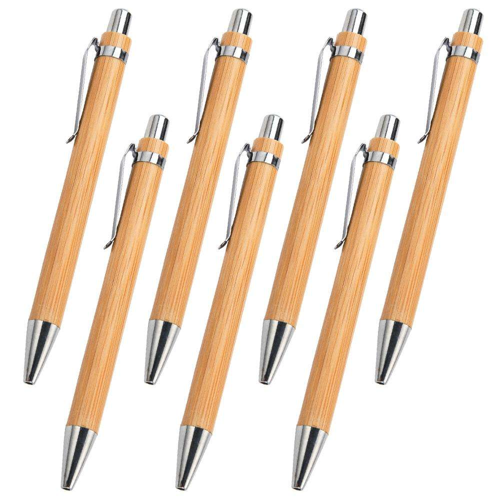 Eco Friendly Wood Bamboo Ball Pen With Custom Logo Printing Promo Pen