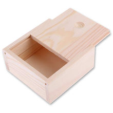 Handmade wholesale wooden gift box custom logo unfinished wooden packaging box