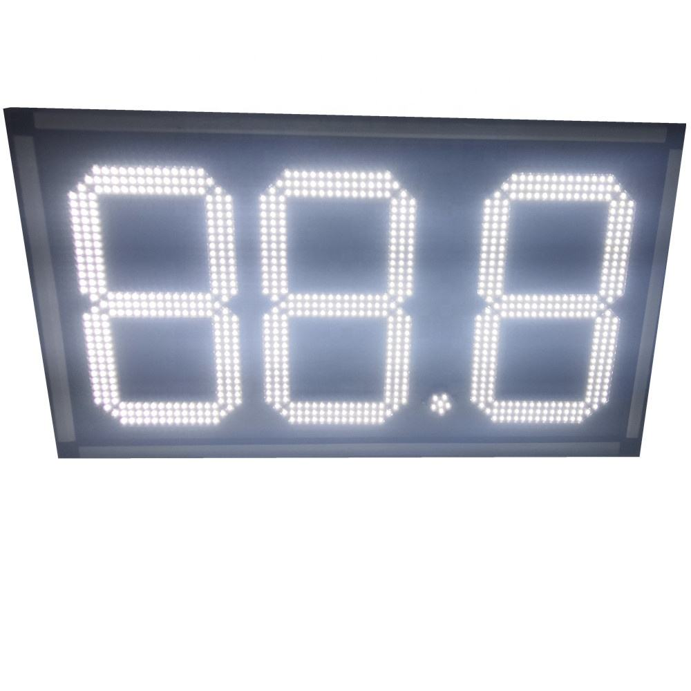petrol price sign 16 inch 8.88 Gas station Sign LED digital display board