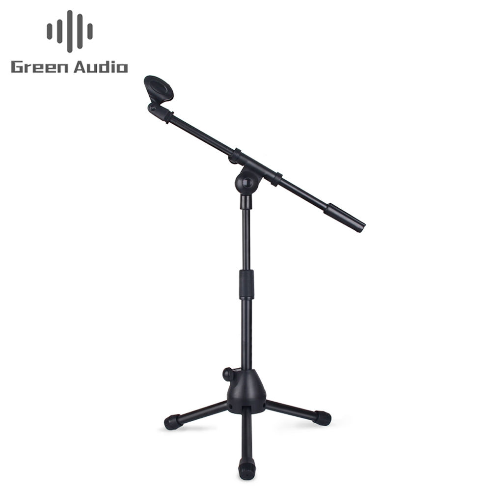 Professional tripod adjustable floor microphone stand for Radio Broadcasting Studio
