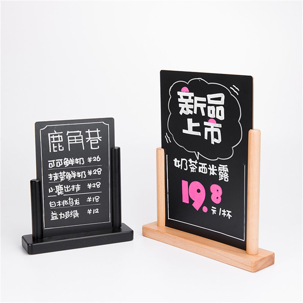 Factory Price Tabletop Decorative Stand Mini Menu Sign Chalk Board Small Wooden Black Vintage Frame A4 Chalkboard