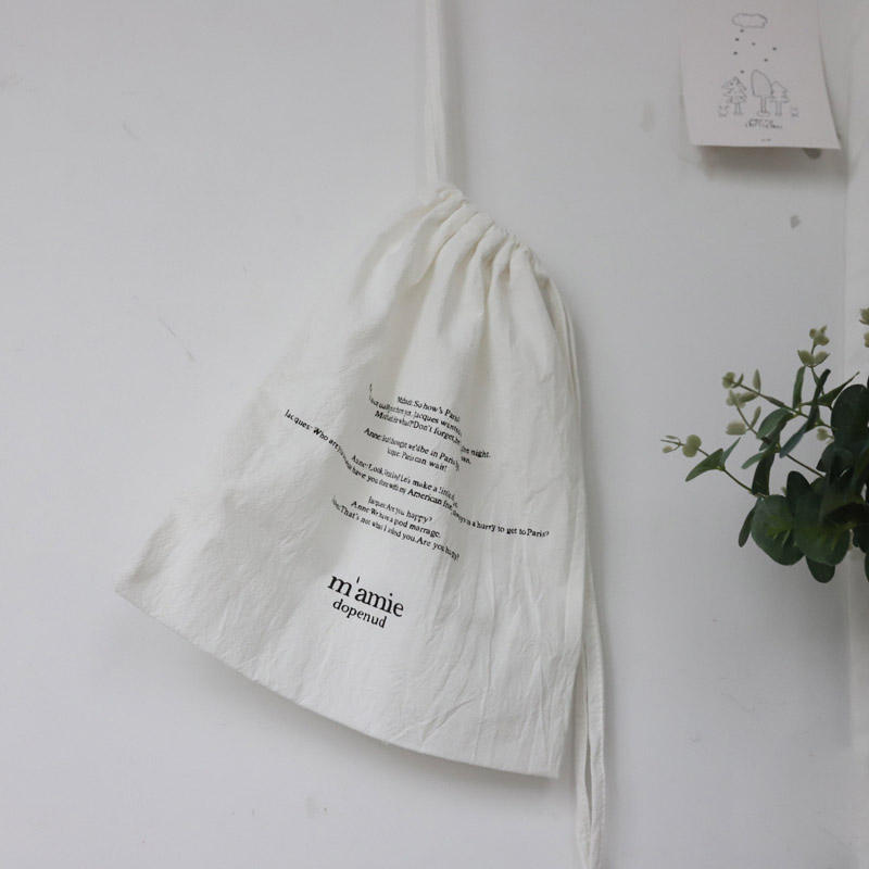 Drawstring Cotton Pouch Soft Linen Gift Packaging Bag