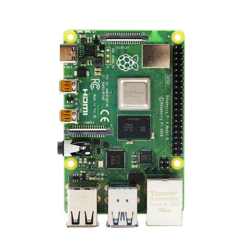 Raspberry Pi 4 model B 4GB RAM for Linux AI development board Python with 16GB Memory Card