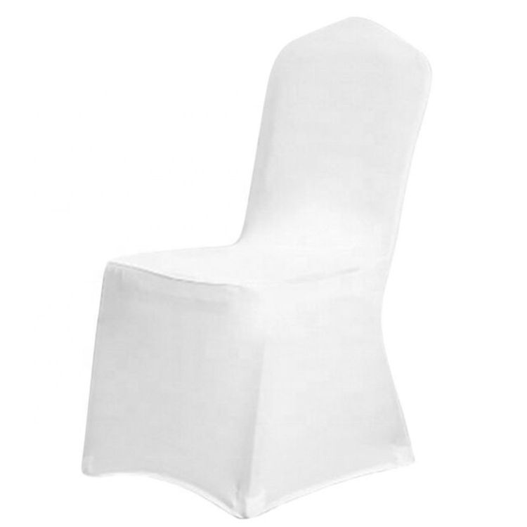 White Chair Covers Polyester Spandex Chair Cover for Wedding Party Decoration